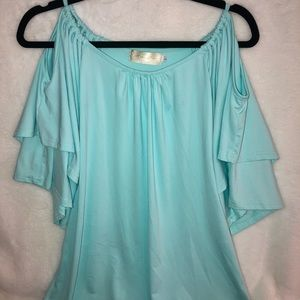 Women's top blouse cold shoulder size Large